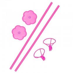 STOJAK stelaż do balonów 40cm 2szt Różowy
