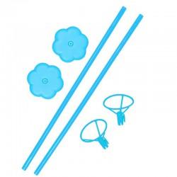 STOJAK stelaż do balonów 40cm 2szt Niebieski