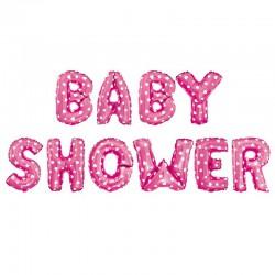 BALONY foliowe Baby Shower różowe MEGA