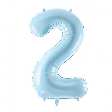 "Balon foliowy Cyfra ""2"", 35cm, niebieski"