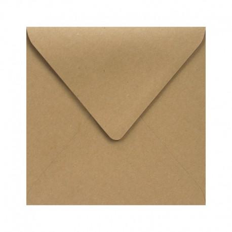 KOPERTY kwadratowe do zaproszeń 10szt KRAFT