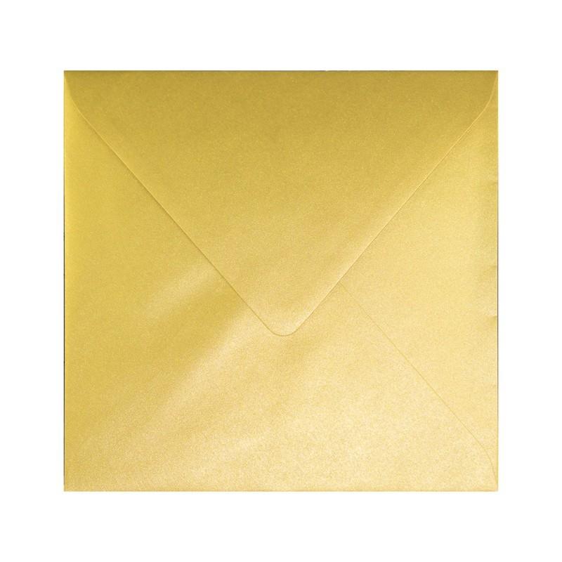 koperta na zaproszenia złota