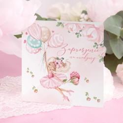 ZAPROSZENIA na Urodzinki Ballerina 10szt (+koperty)