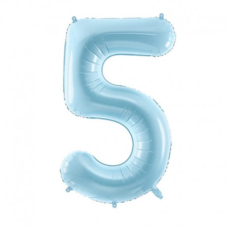 "Balon foliowy Cyfra ""5"", 35cm, niebieski"