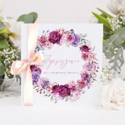 ZAPROSZENIA komunijne Kwiatowy Wieniec 10szt (+koperty)