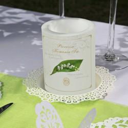 ŚWIECA/LAMPION zapachowa Gałązka Konwalii 12cm/10cm DUŻA