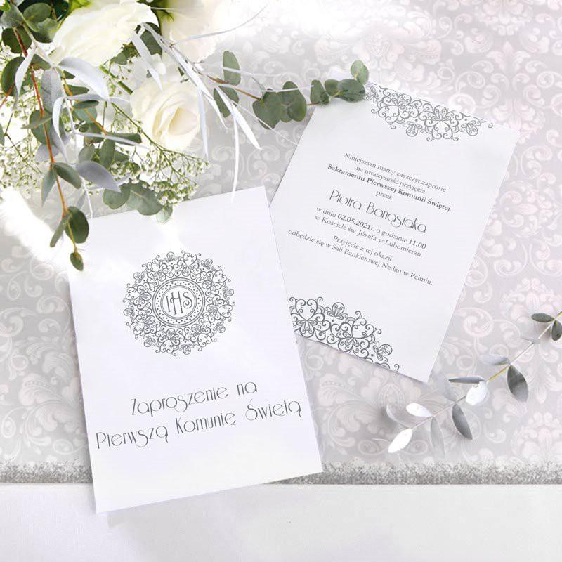 zaproszenia personalizowane z hostią