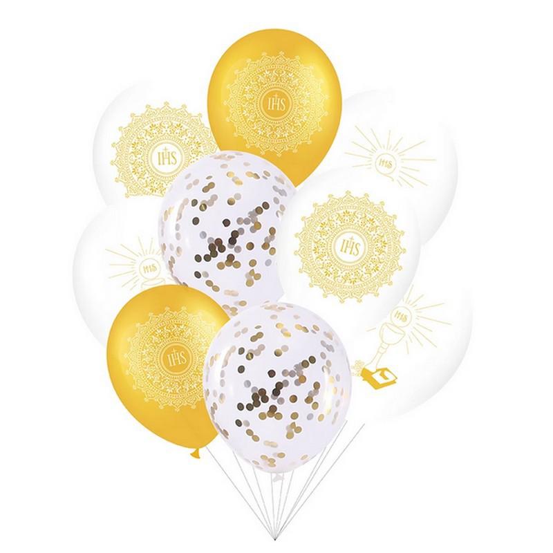 balony komunijne złote
