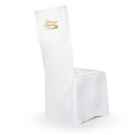 POKROWIEC na krzesło komunijne Pierwsza Komunia ZŁOTY