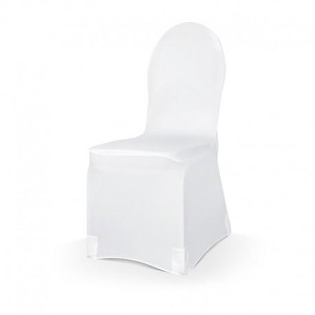 POKROWIEC na krzesło elastyczny BIAŁY