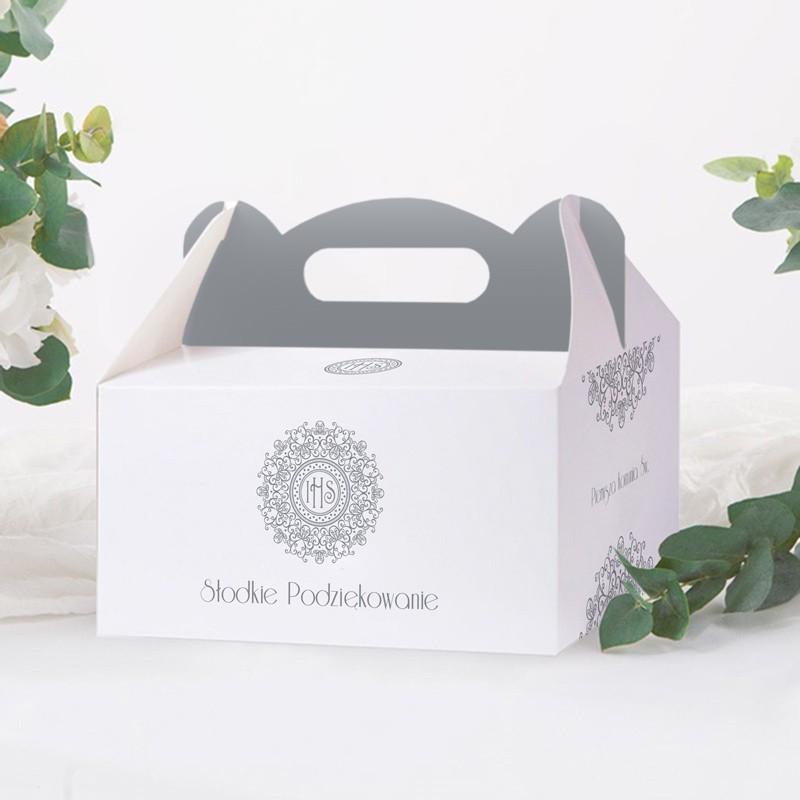pudełko na ciasto z grafiką Hostii