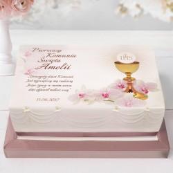 OPŁATEK personalizowany na tort Storczyk 21x30cm
