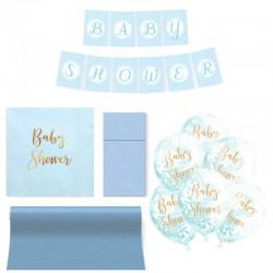 ZESTAW dekoracji na Baby Shower BŁĘKITNY 5% TANIEJ