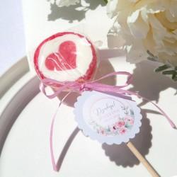 LIZAKI podziękowanie z sercem Różowy Wózeczek (+bileciki z imieniem) 15szt
