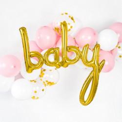 BALON foliowy Baby złoty 73,5x75,5cm