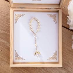 PAMIĄTKA I Komunii prezent dla dziecka Dziesiątka Różańca Z IMIENIEM
