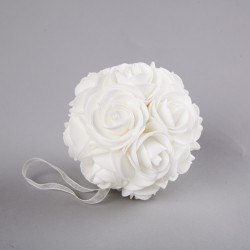 KULA dekoracyjna Piankowe Róże 10cm