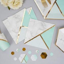 SERWETKI papierowe Marble Mint 33x33cm 16szt