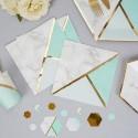 SERWETKI papierowe Marble Mint 33x33cm 16szt KONIEC SERII