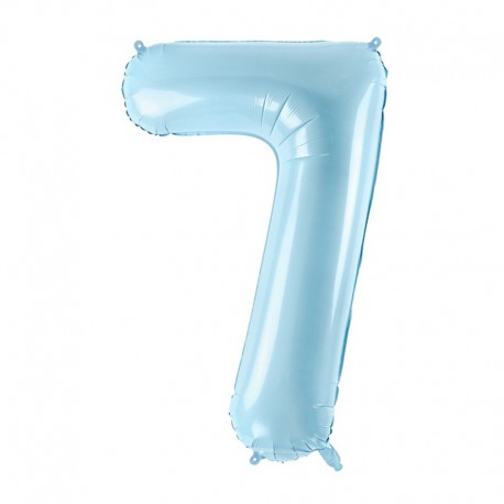 "Balon foliowy Cyfra ""7"", 35cm, niebieski"