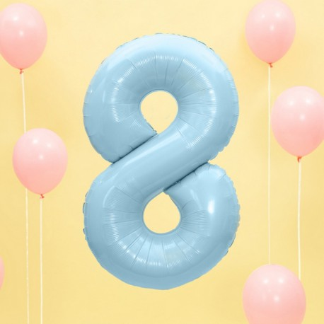 "Balon foliowy Cyfra ""8"", 35cm, niebieski"
