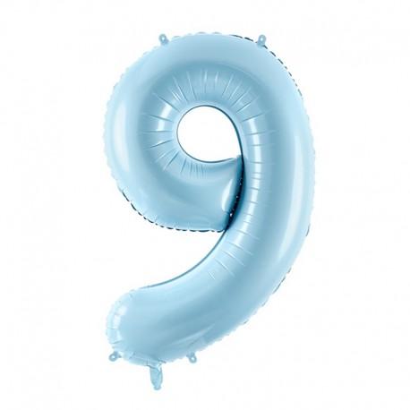 "Balon foliowy Cyfra ""9"", 35cm, niebieski"