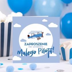 ZAPROSZENIA na Urodziny Małego Pilota NEW (+koperty)