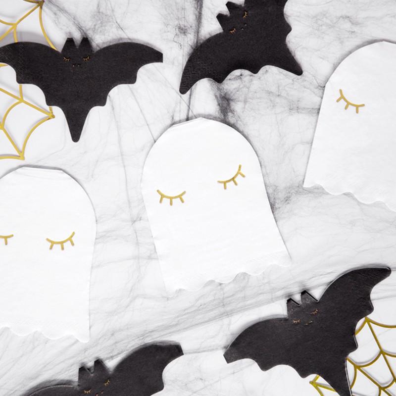 Serwetki na Halloween w kształcie duszka