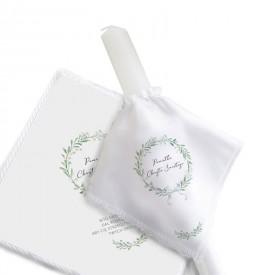 KOMPLET świeca do chrztu+chusteczka Lily of the Valley UNIWERSALNY 15% taniej