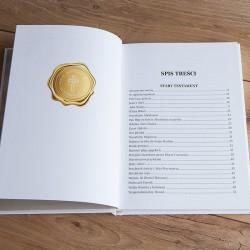 BIBLIA Pamiątka I Komunii Z IMIENIEM Złoty Kielich malarski DUŻA