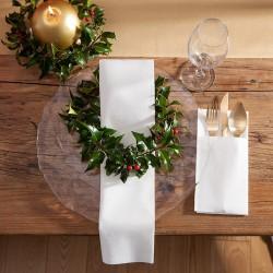KIESZONKI na sztućce świąteczne Białe PROMOCJA 50 SZTUK