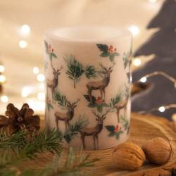 ŚWIECA/LAMPION świąteczna zapachowa EKO Renifery 10x12cm