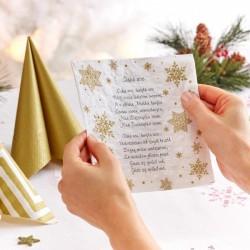 SERWETKI świąteczne tłoczone z tekstem Cicha Noc 33x33cm 20szt