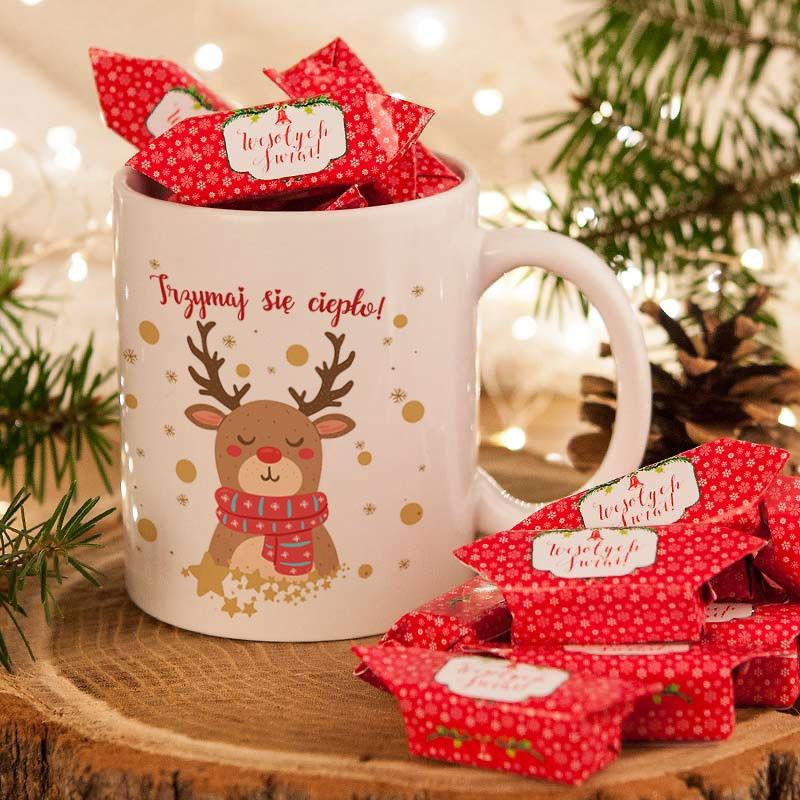 kubek świąteczny z reniferem
