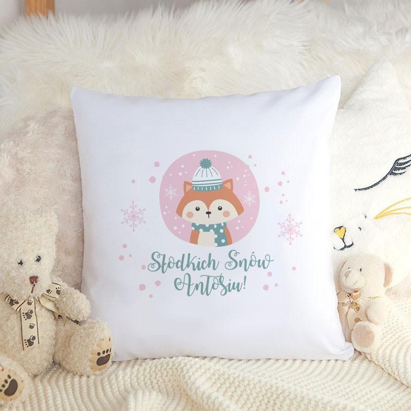 Poduszka świąteczna z imieniem dziecka