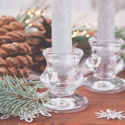 ŚWIECZNIK świąteczny szklany 6cm