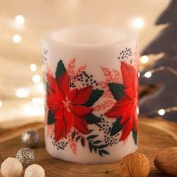 ŚWIECA/LAMPION świąteczna zapachowa Poinsecja 10x12cm