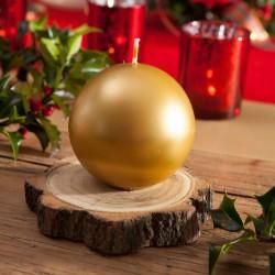 ŚWIECE świąteczne kule metalizowane 8cm 6szt ZŁOTE