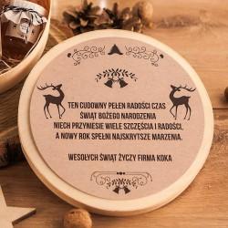 KOSZ prezentowy świąteczny firmowy w pudełku z ŻYCZENIAMI od Ciebie Zimowy Wieczór
