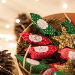 KOSZ prezentowy świąteczny firmowy z krówkami z ŻYCZENIAMI od Ciebie Red&Green