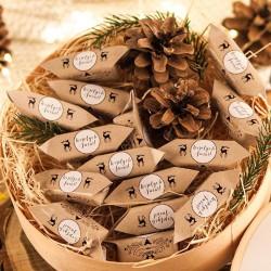 KOSZ prezentowy świąteczny firmowy z krówkami z ŻYCZENIAMI od Ciebie Leśny
