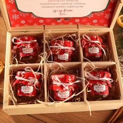 ZESTAW świąteczny w skrzyni Miodowy Czerwony Z IMIENIEM