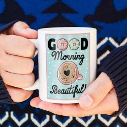 KUBEK świąteczny na prezent Good morning Beautiful