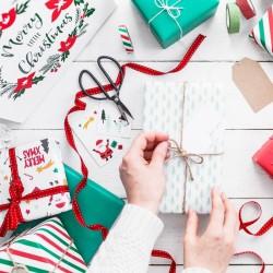 PAPIER do pakowania prezentów Merry Christmas 0,7x2m 2szt 2 WZORY