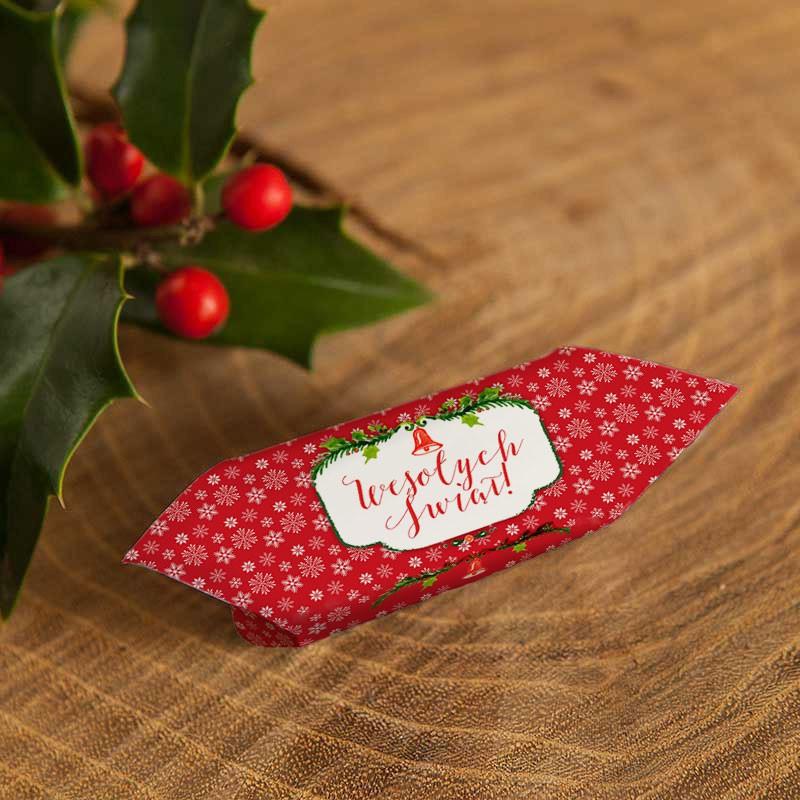 Krówki świąteczne w czerwonym kolorze