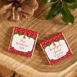 CZEKOLADKA świąteczna na prezent Czerwone Święta personalizowana