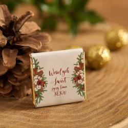 CZEKOLADKA świąteczna prezent firmowy Naturalne Święta personalizowana