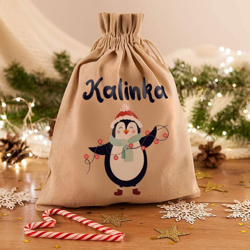 worek do pakowania świątecznych prezentów