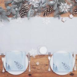 BIEŻNIK świąteczny flizelinowy 40cmx24m SREBRNY