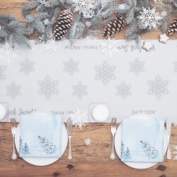 BIEŻNIK świąteczny personalizowany Snowland 42cmx5m